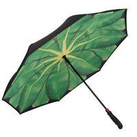 Regenschirm Autofahrer inverted stabil Stockschirm grün Bananenblatt