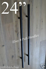 "24"" Pulls Handles Entry Door / Gate entrance door pull BLACK stainless steel"