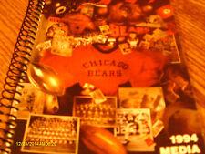 Chicago Bears 1994 Media Guide Dave Wannstedt
