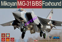 AMK 88008 1/48 scale Fox Hound Mikoyan Mig-31b/bs plane model kit 2019 new