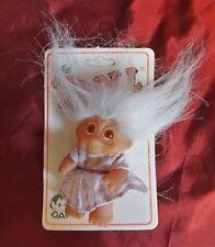 Thomas Dam Troll 1985 mit Blisterkarte 50512  White hair Original Card