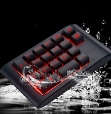 Mini USB Mechanical Numeric Keypad LED Backlight Wired 19 Keys Numpad Keyboard