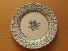 "Vintage Royal Victoria ""Rose Bouquet"" Blue & White Ironstone Side/Tea Plate"