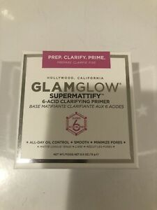 NIB Glamglow Supermattify 6-Acid Clarifying Primer Full Size .5 oz MSRP $42