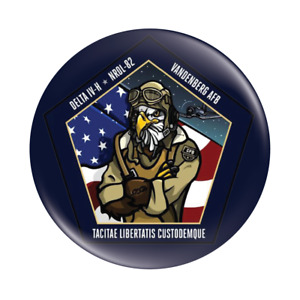 NROL-82 Mission Patch Button Badge - Delta IV Heavy Button Badge - 58mm