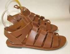 new ladies Summer Tan Open Toe Lace Up Sexy Sandal Shoes Size 7