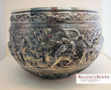 Silver 1900-1940 Bowl Asian Antiques