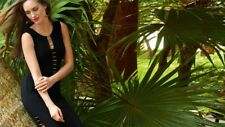 Joseph Ribkoff 181035** Sleeveless Black Goldtone Accent Dress Sz 14 UK 16 NEW