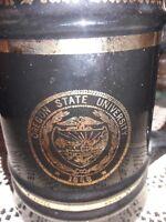 Vintage UNIVERSITY OF OREGON Large Beer Stein Mug W C Bunting Co, BLACK/GOLD