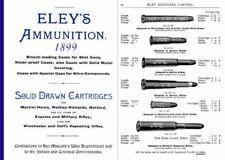 Eley 1899 Ammunition Sporting & Military Ammunition Catalog (UK)