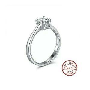 Women's Zircon Band Ring in 925 Sterling Silver