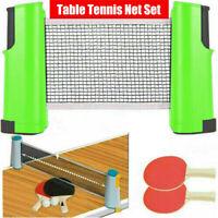 Green Retractable Portable Net Table Tennis Set:Racket andTable Tennis Set