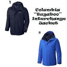 COLUMBIA MEN'S BUGABOO INTERCHANGE OMNI-TECH 3 IN 1 JACKET NWT WATERPROOF BLUE