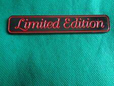 limited edition emblem DARK METALLIC RED WORDING metal new bmw benz toyota mazda