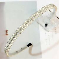 Women Lady Girl Pearl Crystal Beads Hair Head Band Headband Party Tiara Hoop