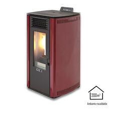 Qlima stufa a pellet 8,24kW rossa riscaldamento ambienti casa FIORINA74S-LINE