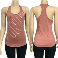 Victorias Secret PINK Ultimate Sport Logo Racerback Tank Top Tee Brown - Small