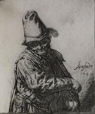 Adriaen Jansz Van Ostade Dutch 1610-1685 Etching Organ Grinder
