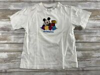 WALT DISNEY WORLD KIDS SIZE SMALL EMBROIDERED MICKEY MOUSE GRAPHIC T SHIRT EUC