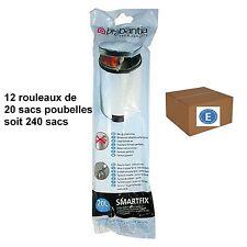 """BRABANTIA LOT 240 SACS POUBELLES  """"E""""   pour poubelle 20 litres"""