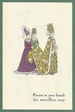 1928 HAND-COLOURED ADVERTISING LEAFLET ART-GOUT-BEAUTÉ HISTORICAL FASHION PLATES