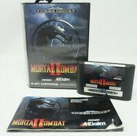 MORTAL KOMBAT II 2 SEGA Mega Drive Game, 16-BIT Cartridge, Complete