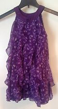 Epic Threads Purple And White Ruffled Shirt Girls Size Small Great Condition