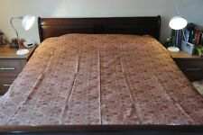 Luxurious Indian bedspread - copper brown