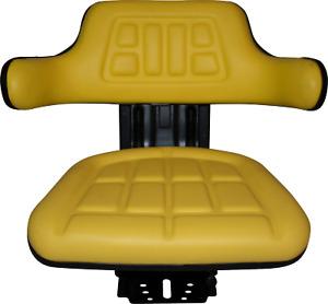 YELLOW JOHN DEERE 5400 5410 6110 WAFFLE UNIVERSAL TRACTOR SUSPENSION SEAT