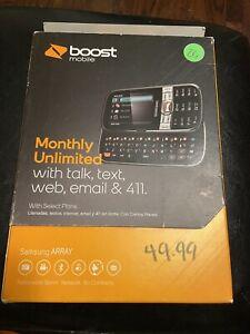 LG Rumor Reflex LN272 - Titan Gray (Boost Mobile) Cellular Phone - New!
