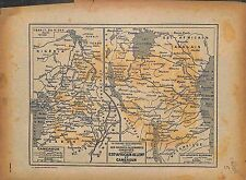Carte Map Cameroun Cameroon German colonies Africa 1916 WWI