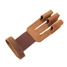 Hunting Shooting Archery Hand Finger Guard Leather Glove