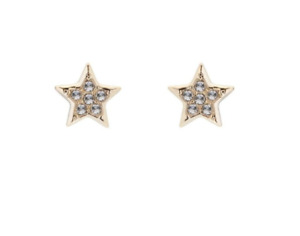 TED BAKER SAFIRE PAVE SHOOTING STAR SWAROVSKI GOLD TONE STUD EARRINGS RRP £29