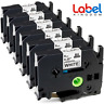 6PK TZe-221 TZ221 Label Tape P-Touch Black on White 9mm Compatible for Brother