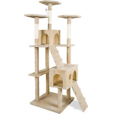 Merax Cat Tree Tower Condo Furniture Scratch Post Kitty Pet Play House Bed New