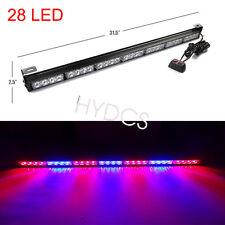"""New 31"""" 28 LED Emergency Warning Light Bar Traffic Flash Strobe light Red & Blue"""