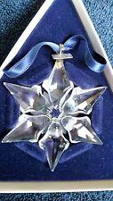 SWAROVSKI Crystal 2000 Annual LE Star/Snowflake Christmas Ornament MIB