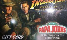 Papa John's Gift Card Collectible ($0 Value) Indiana Jones (N:ƆE)