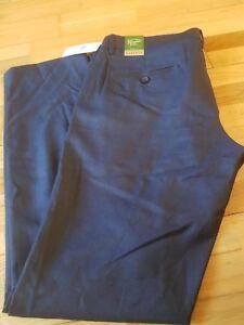 "Original Penguin Margate Formal Smart Blue Teal Trousers Slim Fit W 30"" L32 New"