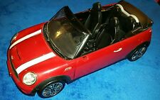 Barbie Car KEN'S MINI COOPER CONVERTIBLE Cabrio S Red White HTF Mattel 2012