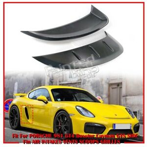 2016 Fit For PORSCHE 981 GT4 Boxster Cayman GTS Side Fin Air Vent Scoops Grilles