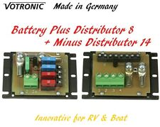 Votronic Fuse Block Circuit Plus Distributor 8 and Minus Distributor 14