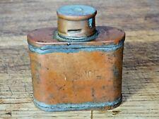 ancienne flasque en cuivre s n c f  pour graisse objet vintage de collection