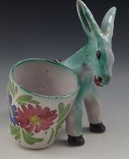 Vietri 1950's Ics Gambone Italy Large Donkey With Basket Very Rare #66