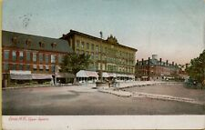 1905 Street View Glittered Upper Square Dover New Hampshire NH Postcard A14