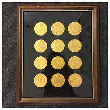 Franklin Mint 12 Medaillen Bronze vergoldet Vincent van Gogh Museum Amsterdam