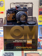 (77) Olympus OM-2n Sp.Ed. OT-20 w/50/1.4, papers, case, box, CLA'd 9/19 gorgeous