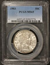 1903-P U.S. Barber Half Dollar 50 Cents Silver Coin - PCGS MS 65