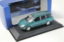 1:43 Minichamps ford Focus Turnier 1999 Green dealer New en Premium-modelcars