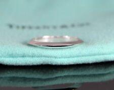 $675 Tiffany & Co Platinum 2mm Knife Edge Wedding Band Anniversary Ring Sz 6.25